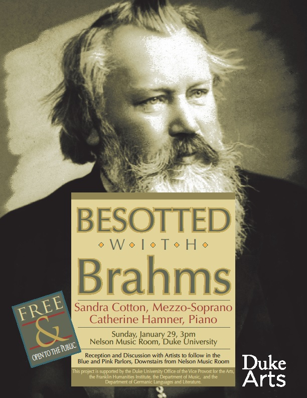 Besotted with Brahms: Sandra Cotton, mezzo-soprano & Catherine Hamner, piano